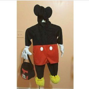 VTG Disney Mickey Mouse Halloween Costume & Basket
